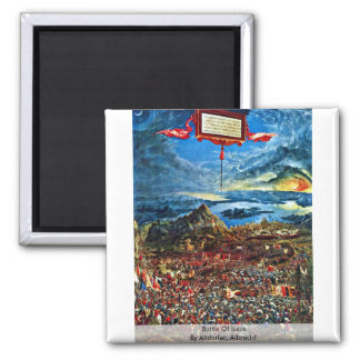 Battle Of Issus By Altdorfer, Albrecht Square Magnet
