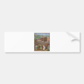 Battle of Jericho by Jean Fouquet Bumper Sticker