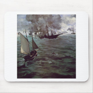 Battle of Kearsage and Alabama by Edouard Manet Mouse Pad