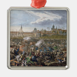 Battle of Leipzig, 19th October 1813 Silver-Colored Square Decoration
