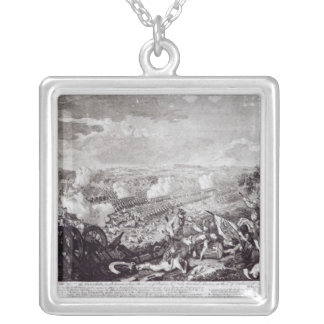 Battle of Lobositz, 1st October 1756 Silver Plated Necklace