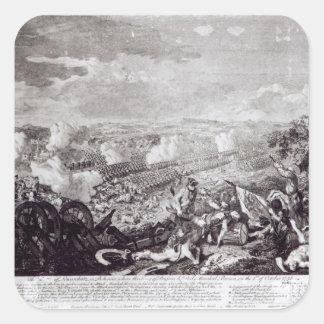 Battle of Lobositz, 1st October 1756 Square Sticker