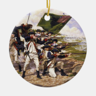 Battle of Long Island by Domenick D'Andrea Round Ceramic Decoration