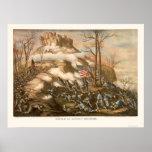 Battle of Lookout Mountain by Kurz & Allison 1863 Posters