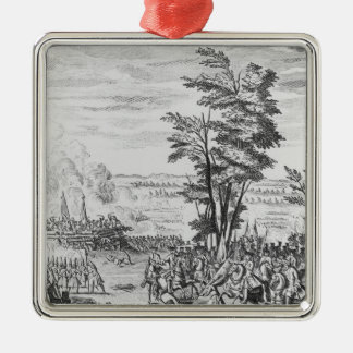 Battle of Malplaquet Silver-Colored Square Decoration