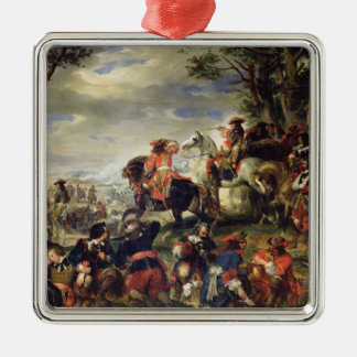 Battle of Marseilles, 4th October 1693, 1837 Silver-Colored Square Decoration