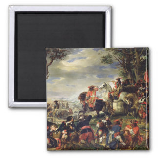 Battle of Marseilles, 4th October 1693, 1837 Square Magnet