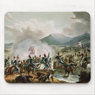 Battle of Morales,engraved by Thomas Sutherland Mouse Mat