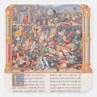 Battle of Nancy in 1477 Square Sticker