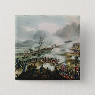 Battle of Nivelle,engraved by Thomas 15 Cm Square Badge