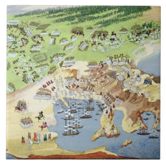 Battle of Piraeus, from the Pictorial History of t Tile