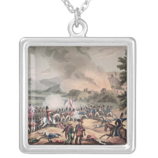 Battle of Pombal, engraved by Thomas Sutherland Silver Plated Necklace
