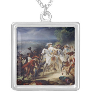Battle of Rocroy, 19th May 1643, 1834 Silver Plated Necklace