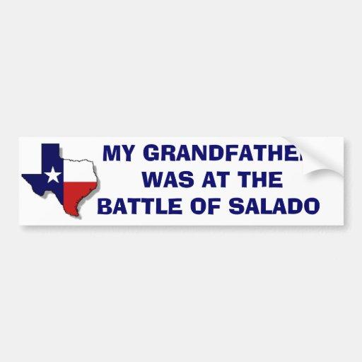 BATTLE OF SALADO BUMPER STICKERS