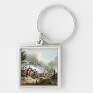 Battle of Salamanca,etched by J. Clarke Silver-Colored Square Key Ring