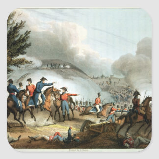 Battle of Salamanca,etched by J. Clarke Square Stickers
