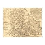 Battle of Shiloh - Civil War Panoramic Map 2 Canvas Print