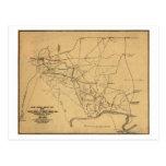 Battle of Shiloh - Civil War Panoramic Map 2 Postcard