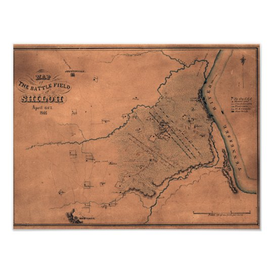 Battle of Shiloh - Civil War Panoramic Map 2 Poster