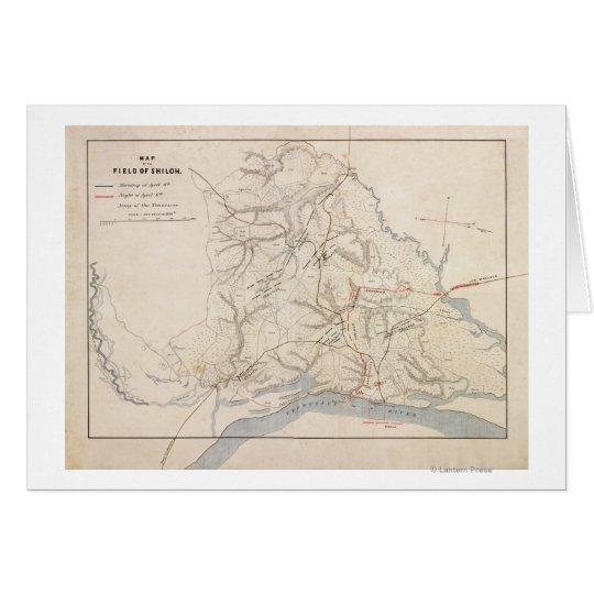 Battle of Shiloh - Civil War Panoramic Map 4 Greeting Card