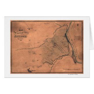 Battle of Shiloh - Civil War Panoramic Map 5 Card