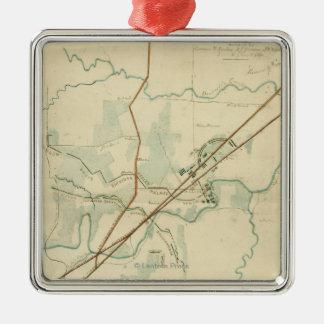 Battle of Stones River - Civil War Panoramic Christmas Ornament