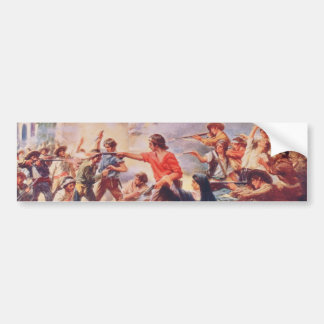Battle of the Alamo by Percy Moran Bumper Stickers