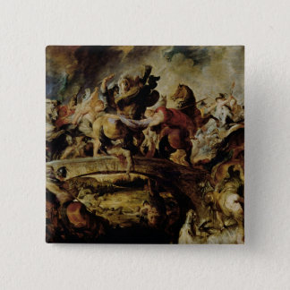 Battle of the Amazons and Greeks , c.1617 15 Cm Square Badge