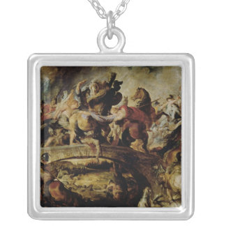 Battle of the Amazons and Greeks , c.1617 Silver Plated Necklace