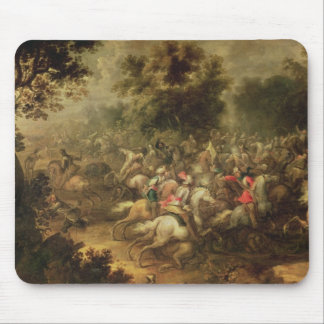 Battle of the cavalrymen mouse pad