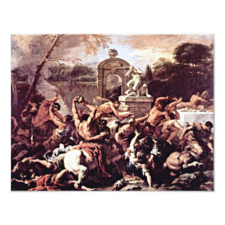 Battle Of The Centaurs And Lapiths By Ricci 11 Cm X 14 Cm Invitation Card