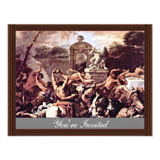 Battle Of The Centaurs And Lapiths By Ricci Invitation
