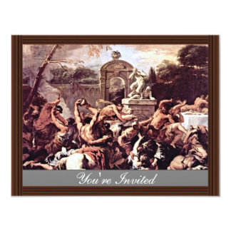 "Battle Of The Centaurs And Lapiths By Ricci 4.25"" X 5.5"" Invitation Card"
