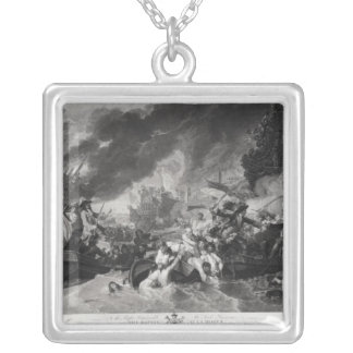 Battle of the Hague, 29th May 1692 Silver Plated Necklace