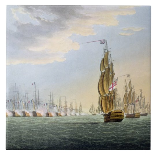 Battle of the Nile, August 1st 1798, engraved
