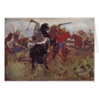Battle of the Scythians with the Slavs Viktor Greeting Card
