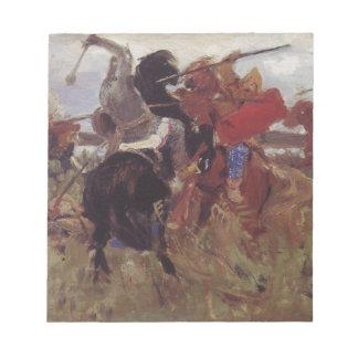 Battle of the Scythians with the Slavs Viktor Memo Notepad