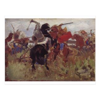 Battle of the Scythians with the Slavs Viktor Postcard