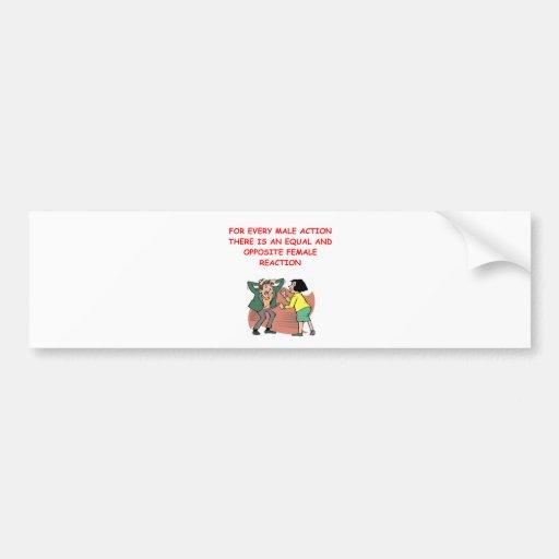 battle of the sexes bumper sticker