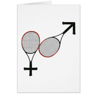 Battle of the Sexes Tennis Note Card