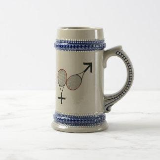 Battle of the Sexes Tennis Coffee Mug