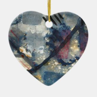 Battle of the squares ceramic heart decoration