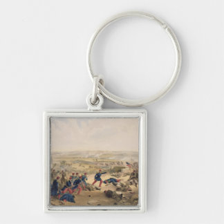 Battle of the Tchernaya, August 16th 1855, plate f Silver-Colored Square Key Ring