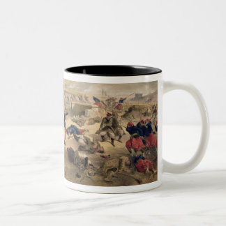 Battle of the Tchernaya, August 16th 1855, plate f Two-Tone Mug