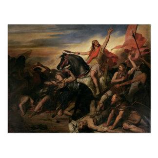 Battle of Tolbiac in AD 496, 1837 Postcard