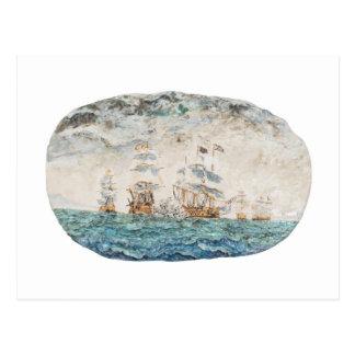 Battle of Trafalgar 1805 1998 Postcard