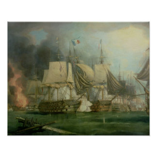 Battle of Trafalgar, 1805 Print