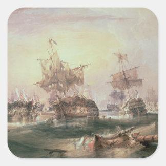Battle of Trafalgar, 21st October 1805 Square Sticker