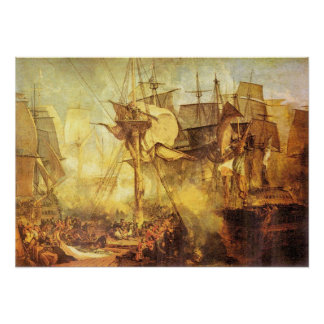 Battle of Trafalgar by Joseph Mallord Turner Poster