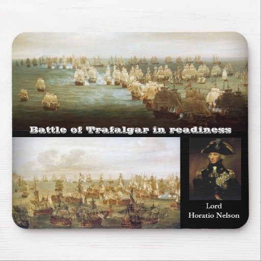 Battle of Trafalgar in readiness (2) Mouse Pads